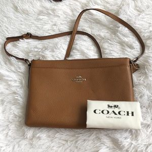 Coach Journal Pebbled Leather Crossbody Bag